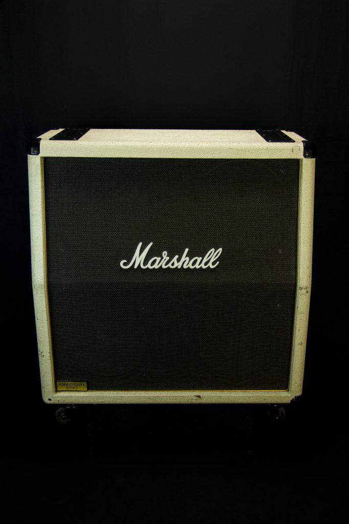 '89 Marshall 4x12 SL V30 Slant Cab (White)