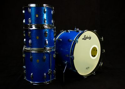 60's Ludwig Downbeat (Blue Sparkle)
