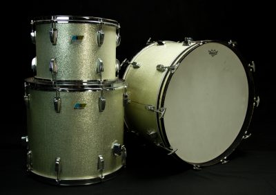 70's Ludwig Olive Badge (Silver Sparkle)
